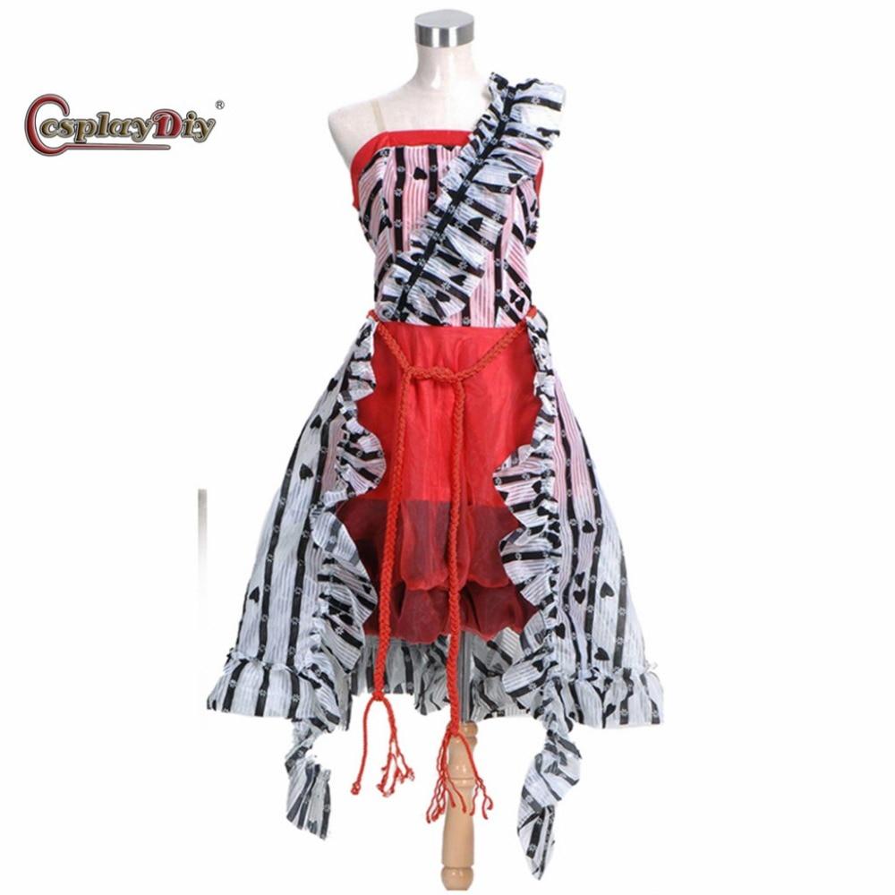 Cosplayidiy Alice In Wonderland Alice Red Court Um Dress Adult Women Halloween Carnival Cosplay Costume Custom Made J5