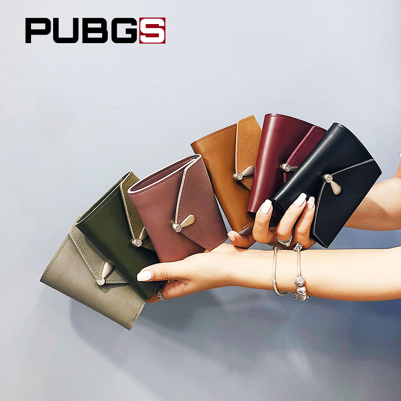 Wallet Female Short Paragraph Card Wallet Purse Photo Bit Note Fashion Lady Travel Hanging Shopping Convenient PUBGS 2018 New