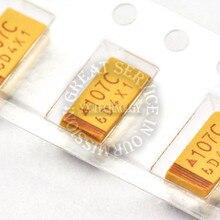 500 pièces/sac 16V 100UF C type 6032 10% condensateur de tantale SMD