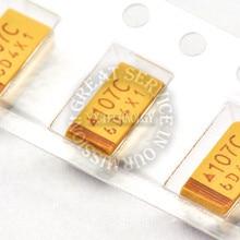 500pcs/bag 16V 100UF C type 6032 10% SMD tantalum capacitor