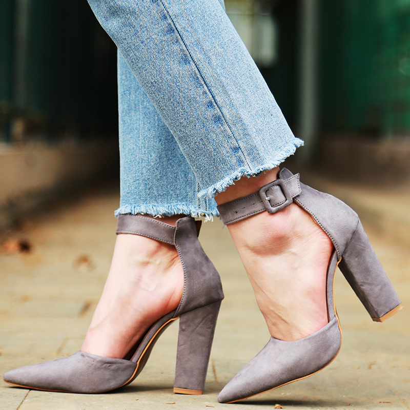 2018 Sexy Classic High Heels Women's Sandals Summer Shoes Ladies Strappy Pumps Platform Heels Woman Ankle Strap Shoes 30