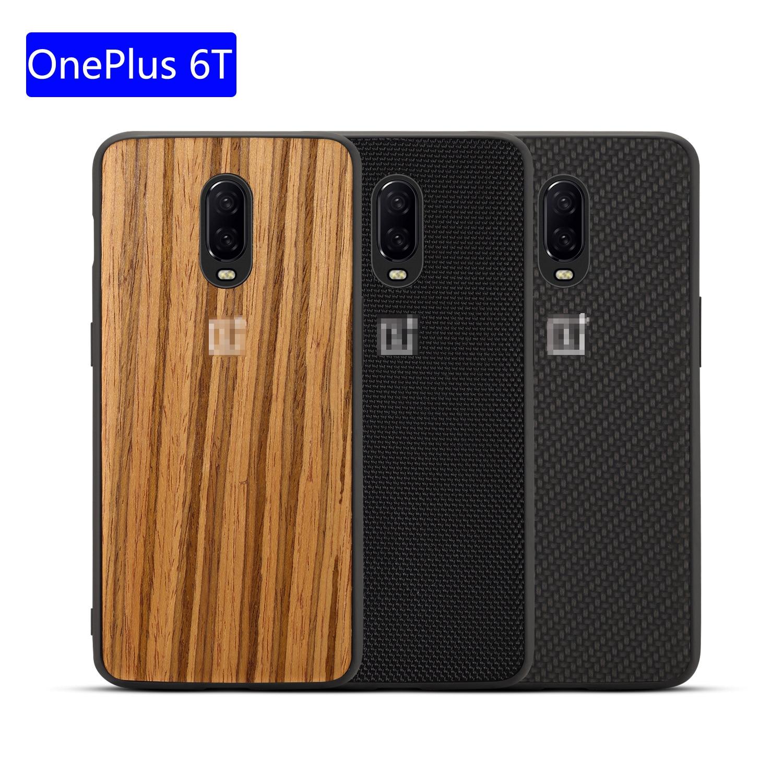 Wood Grain Phone Case For OnePlus 6t 5 Sandstone TPU