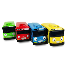 4Pcs/Set Toy Car Scale Model car tayo children miniature bus mini plastic babies toys little tayo tayo bus toys for children