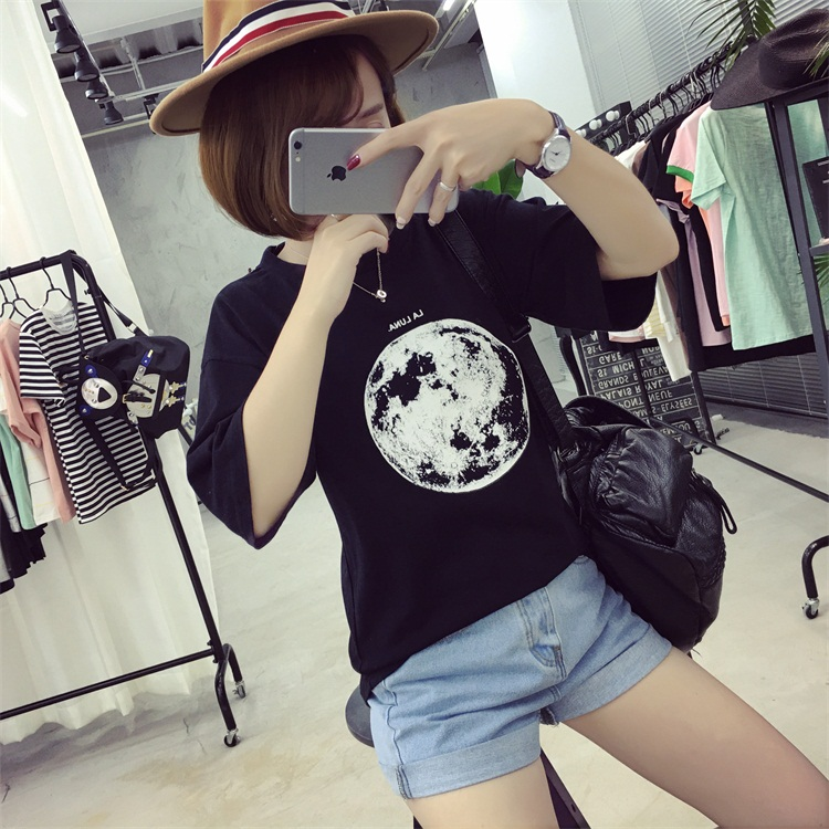 HTB1nPuFPFXXXXaNaXXXq6xXFXXXz - Summer Planet Earth Printed Loose Short Sleeve T Shirts