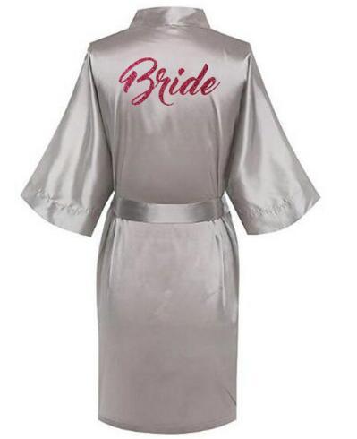 2018 Heißer Frauen Satin Seide Roben Kleid Hochzeit Braut Robe Brautjungfer Braut Robe Hp002 Au Up-To-Date-Styling