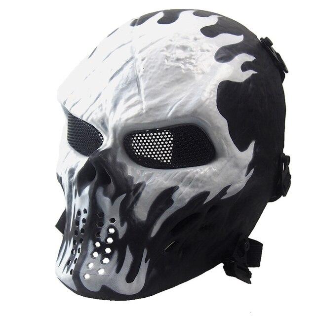 Halloween Horror Ghost Mask CS Army Camo Hunting Tactical Skull ...