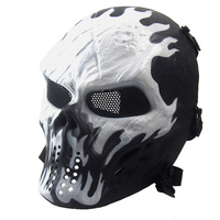 Halloween Horror Ghost Mask CS Army Camo Hunting Tactical Skull Masks Scary Cosplay Party Face Mask High Quality Resin