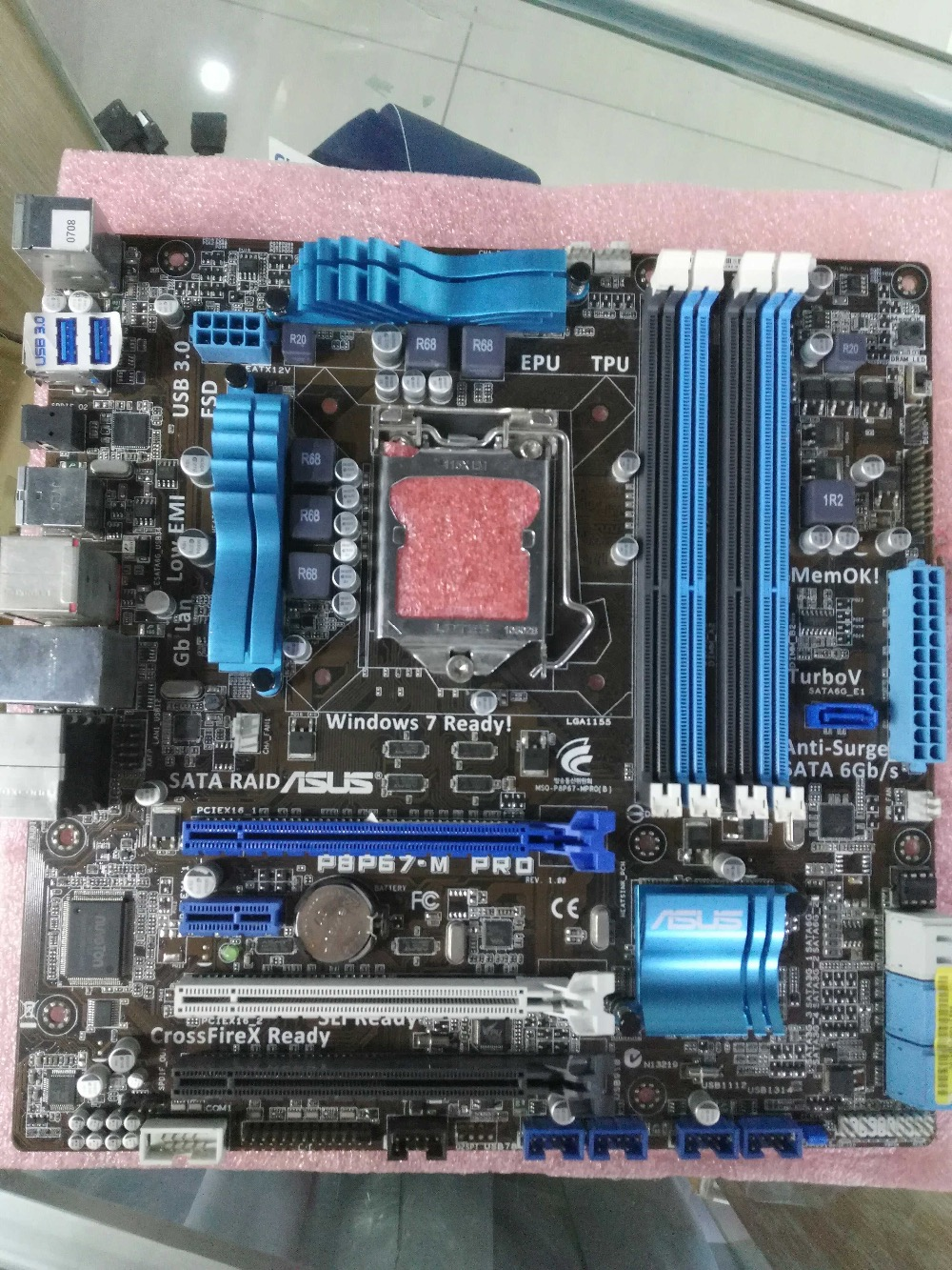 original motherboard for ASUS P8P67-M PRO LGA <font><b>1155</b></font> DDR3 USB2.0 USB3.0 32GB P67 Desktop motherboard image