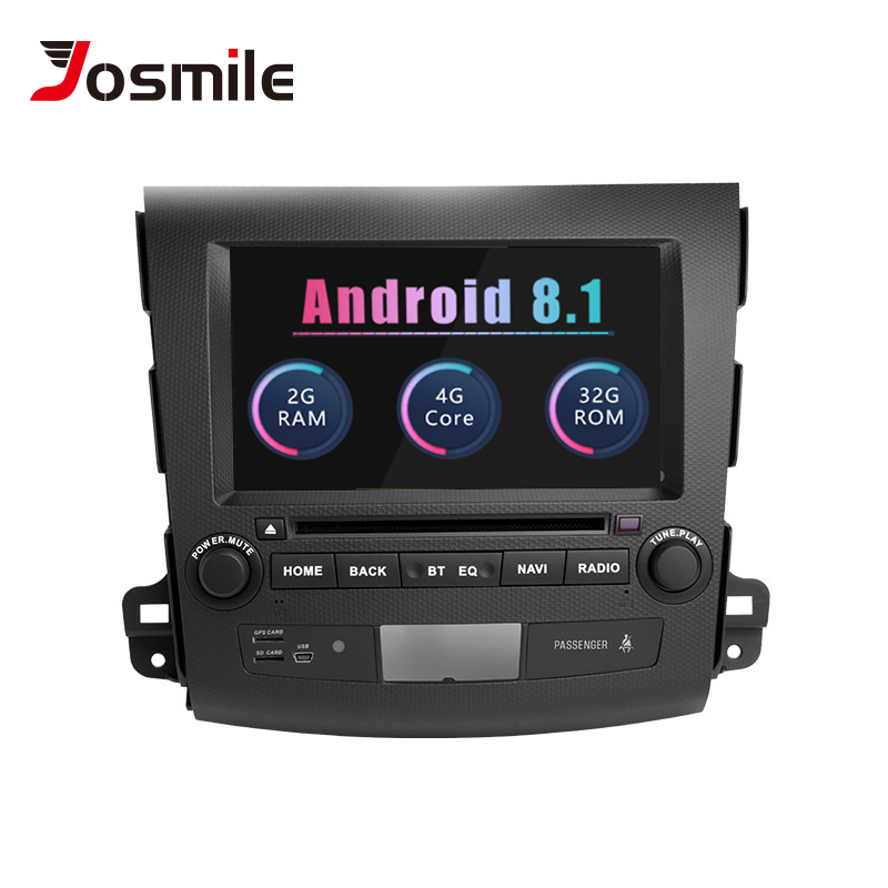 Josmile 2 Din Android 8.1 Car DVD Player For Mitsubishi Outlander 2 3 2007 2008 2009 2010 2011 Audio Stereo AutoRadio Navigation