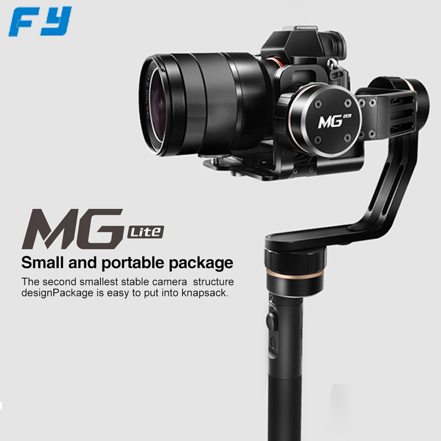 professional Feiyu FY MG Lite 3 axis Camera handheld handhel stabilizer gimbal for DSLR Sony A7  for Canon 5D for Panasonic GH4 beholder ds1 3 axis handheld gimbal stabilizer for a7s canon 6d 5d 7d dslr camera