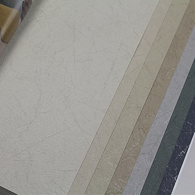Beige Brown Dark Blue PVC Wallpapers Wrinkled Background 3D Modern Textured Wallpaper Roll Plain Crackle Solid Color Wall Paper In From Home