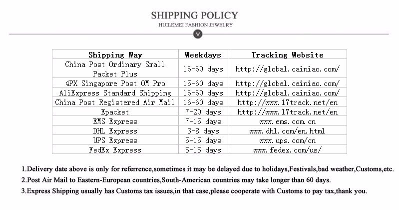 shipping policy conmplete