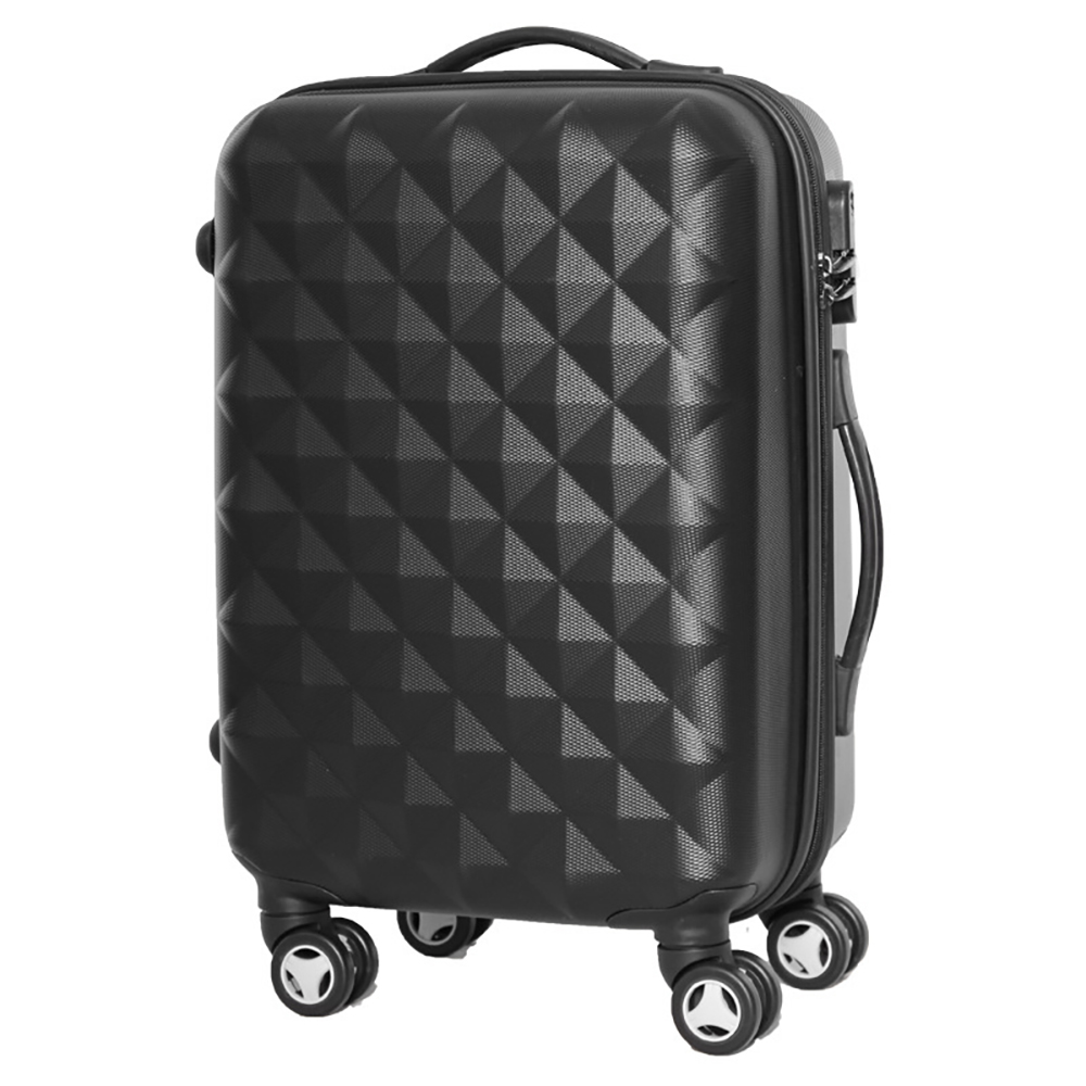 [Available from 10.11]  black suitcase PROFFI TRAVEL PH8368, M, medium plastic  on wheels with combination lock 2pcs travel bags replacement luggage suitcase wheels left