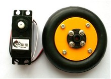 New 360 degree steering wheel is equivalent to DC gear motor tires smart car robot production