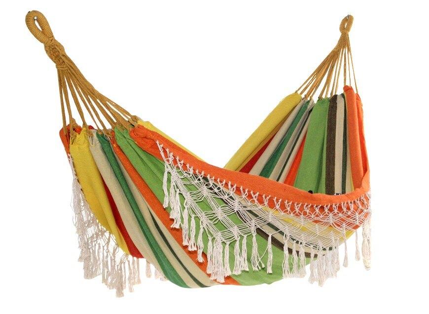 Glands hamac Camping toile de coton 200*150 cm balançoire chaise enfants meubles deux personnes jardin maison meubles remise chaise