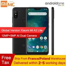 Ücretsiz vergi! küresel Sürüm Xiao mi mi A2 Lite 4 GB 64 GB Android 8.1 Smartphone Snapdragon 625 Octa çekirdek 5.84