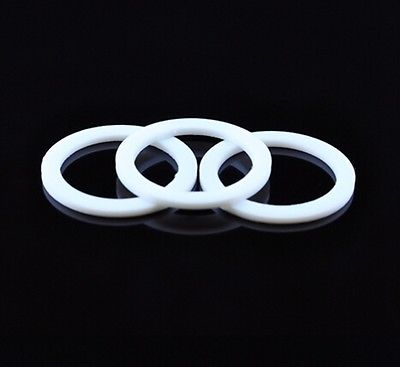 LOT20 10x16x2mm Telfon PTFE Flat Gasket Washer Spacer 2mm Thickness