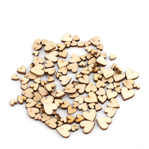 Fashion 100pcs 4 Sizes Mixed Rustic Wooden Love Heart Wedding Table Scatter Table Scatter Love Heart Decor Crafts Accessories
