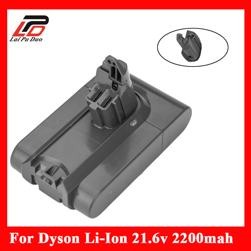 Vacuum Cleaner 21.6V 2200mAh Rechargeable Li-ion Battery for Dyson DC58 V6 DC59 DC61 DC62 Animal 21 6v 2200mah replacement battery for dyson li ion vacuum cleaner dc58 dc61 dc62 dc59