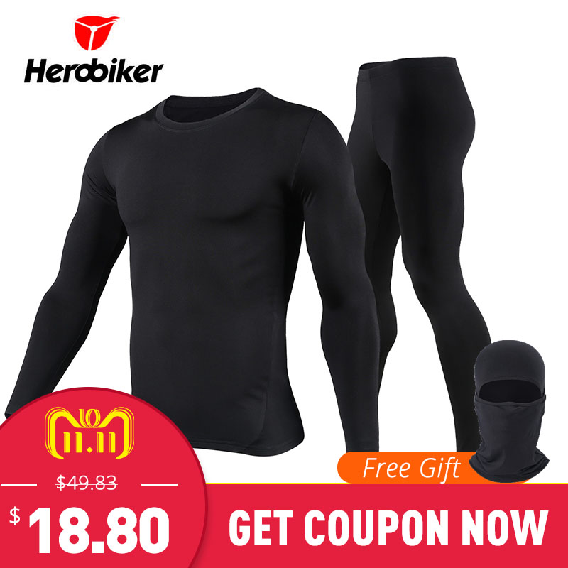 New Men Fleece Thermal Underwear Outdoor Sport Motorcycle Skiing Winter Warm Base Layers Tight Long Johns Tops & Pants Set classic color block tribal print suture stripes design u convex pouch long johns pants for men