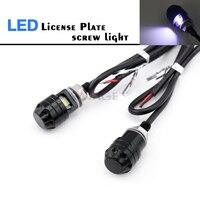 Parafuso led para motocicleta cnc 12v  lâmpada preta