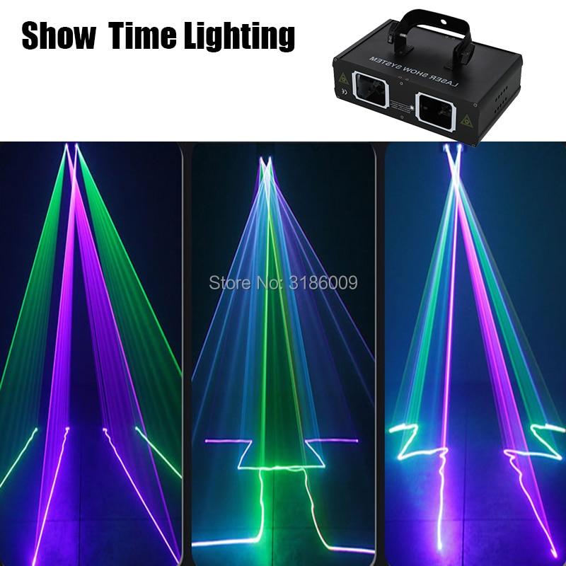 High Bright Dj Laser Disco Light RGB Beam Scan Lazer DMX 512 Professional DJ Party Show Club Holiday Home Bar Stage Lighting