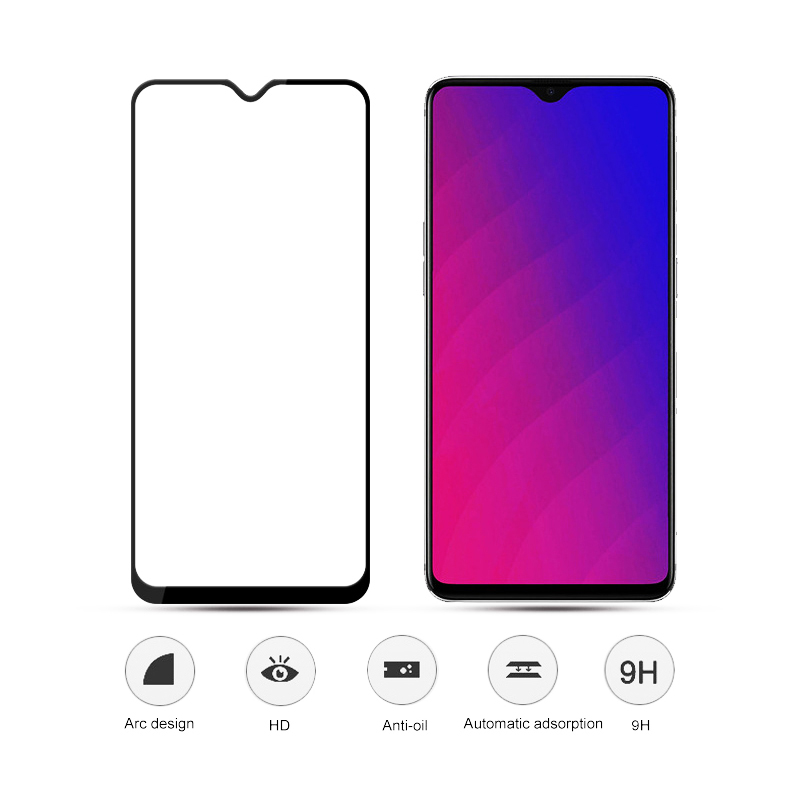 Tempered Glass On For OPPO A3S Protective Glass For OPPO A5S A5 A9 Full Cover Screen Protector For OPPO A 3S 5S Protective Film 6