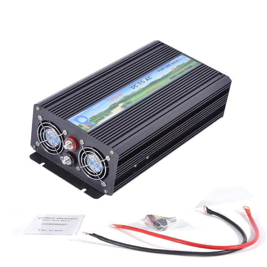 Pure Sine Wave Inverter Converter RBP 1000S 1000W 12V/24V/36V/48V/60V to 220V Home Power Supply Solar Power Generator Inverter