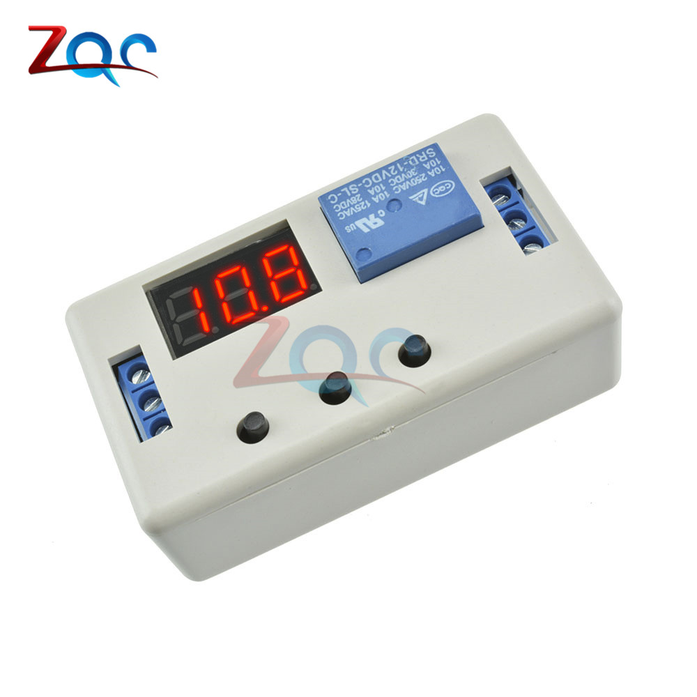 Digital LED Display Time Delay Relay Module Board DC 12V Control Programmable Timer Switch Trigger Cycle Module With CaseDigital LED Display Time Delay Relay Module Board DC 12V Control Programmable Timer Switch Trigger Cycle Module With Case
