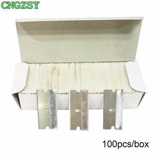 Image 5 - 1pc נייד מסך להסיר דבק סכין + 100pcs מתכת להבי לפרק נקי מגרד ליטוש שובל Oca דבק רכב כלים K03