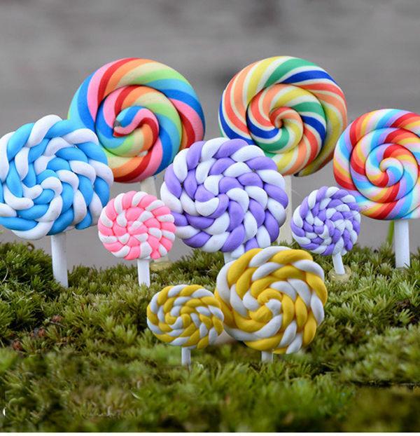 Miniature Cute Lollipops Ornaments Accessories Fairy Garden