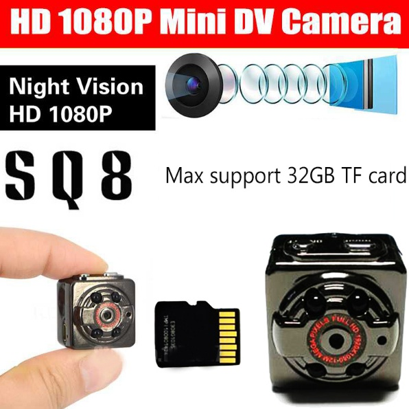 32GB Card+Mini Camera DVR Loop Video Recorder Infrared Night Vision DV Full HD 1080P Webcam Motion Detect
