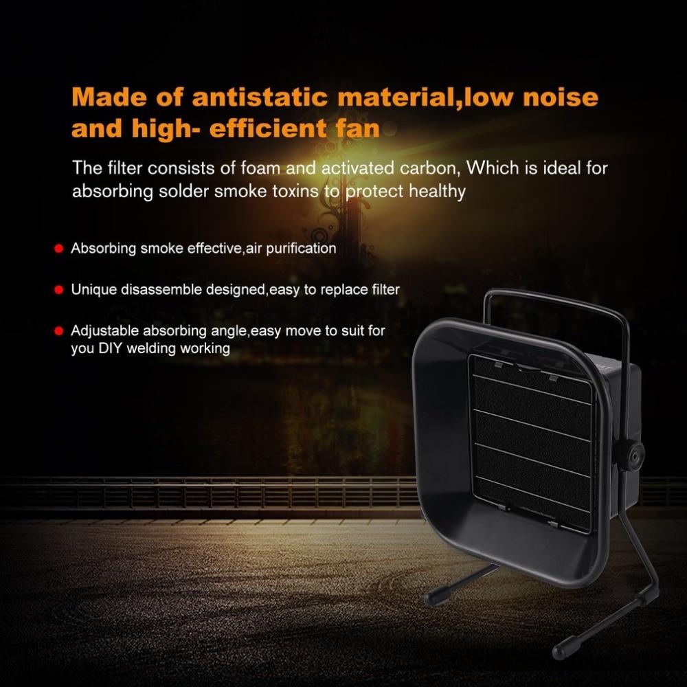 Portable Welding Fume Extractor Flexible Head Solder Smoke Filter Absorber 110V