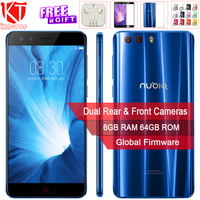 Global ROM для ZTE Nubia Z17 Mini S мобильный телефон Snapdragon 653 Octa Core 6G RAM 64G ROM 5,2 1080 P двойной передняя Настоящее Камера NFC телефон