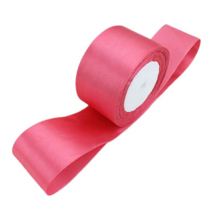 (25 ярдов/рулон) 2 »(50 мм) арбуз красный одно лицо атласная лента лямки украшения подарок Рождество лентами