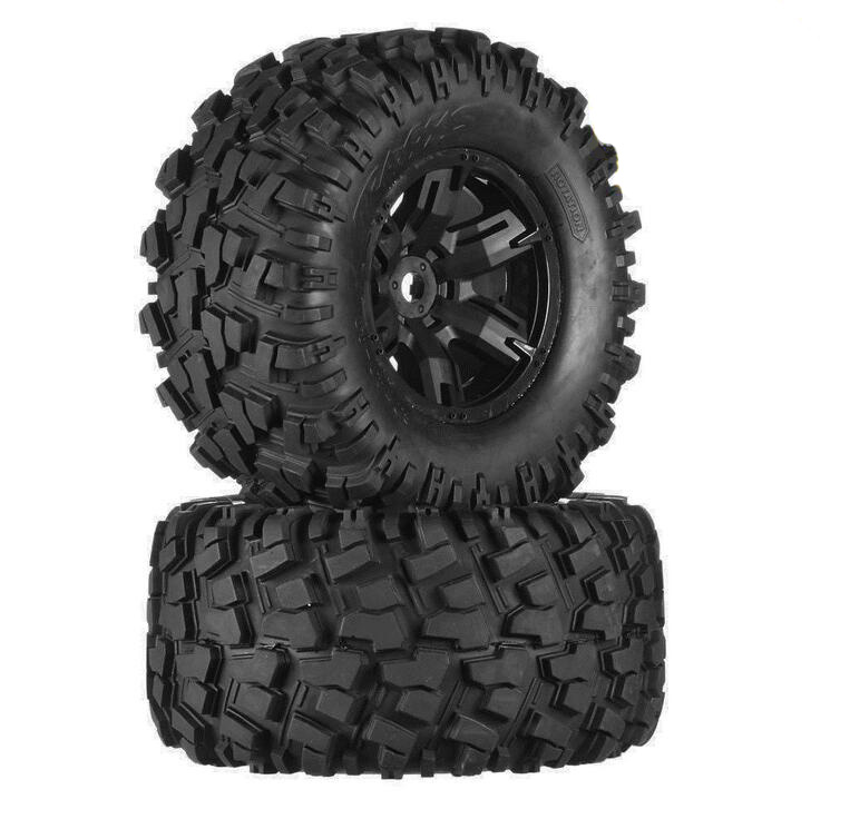 2PCS TRAXXAS Original 1/5 X-MAXX tires Wheels Tire tyre for 1/5 Traxxas X-MAXX RC Monster truck model #7772 1 5 traxxas x maxx wheels tire rc monster truck model madmax high quality tyres upgrade rim 4pcs