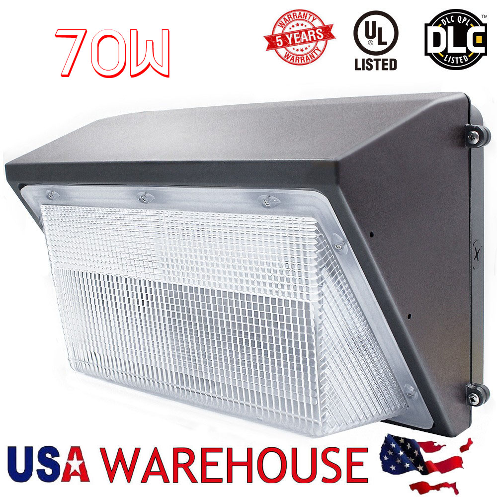 70W Led Wall Pack Light 250-300W HPS MH Bulb Replacement,100-265V Outdoor Wall Lamp Floodlight Light USA Fast Delivery hct011 25x23x500mm fast delivery 8pcs pack 100