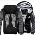 Hot New The Walking Dead Hoodie Zombie Daryl Dixon Wings Winter Fleece Mens Sweatshirts Tracksuit thick 2017 autumn down jacket