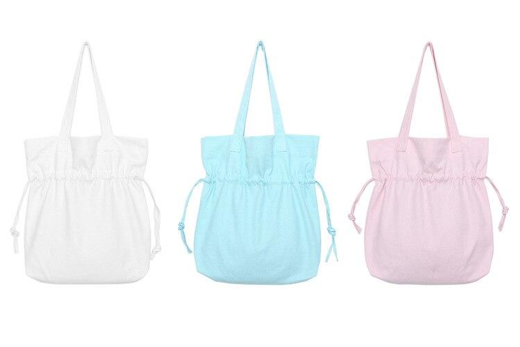 Large Capacity Women Canvas Handbag Open Shopping Shoulder Bag blank cute  Girls Beach Bookbag Casual Tote Korean shopping bag-in Shopping Bags from  Luggage ... 214fad0ec