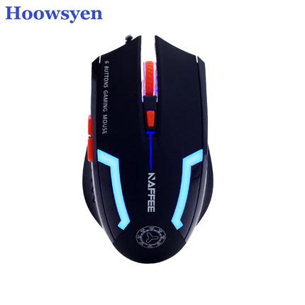 Gaming Mouse Slient Button Computer Gaming 2400DPI mouse for PC Laptop for overwatch LOL ...