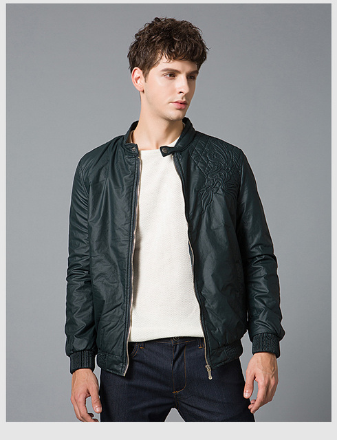 d736b91c7e New Fashion PU Leather Jacket Men Black Blue Army Green Solid Mens Faux  Coats Trend Slim