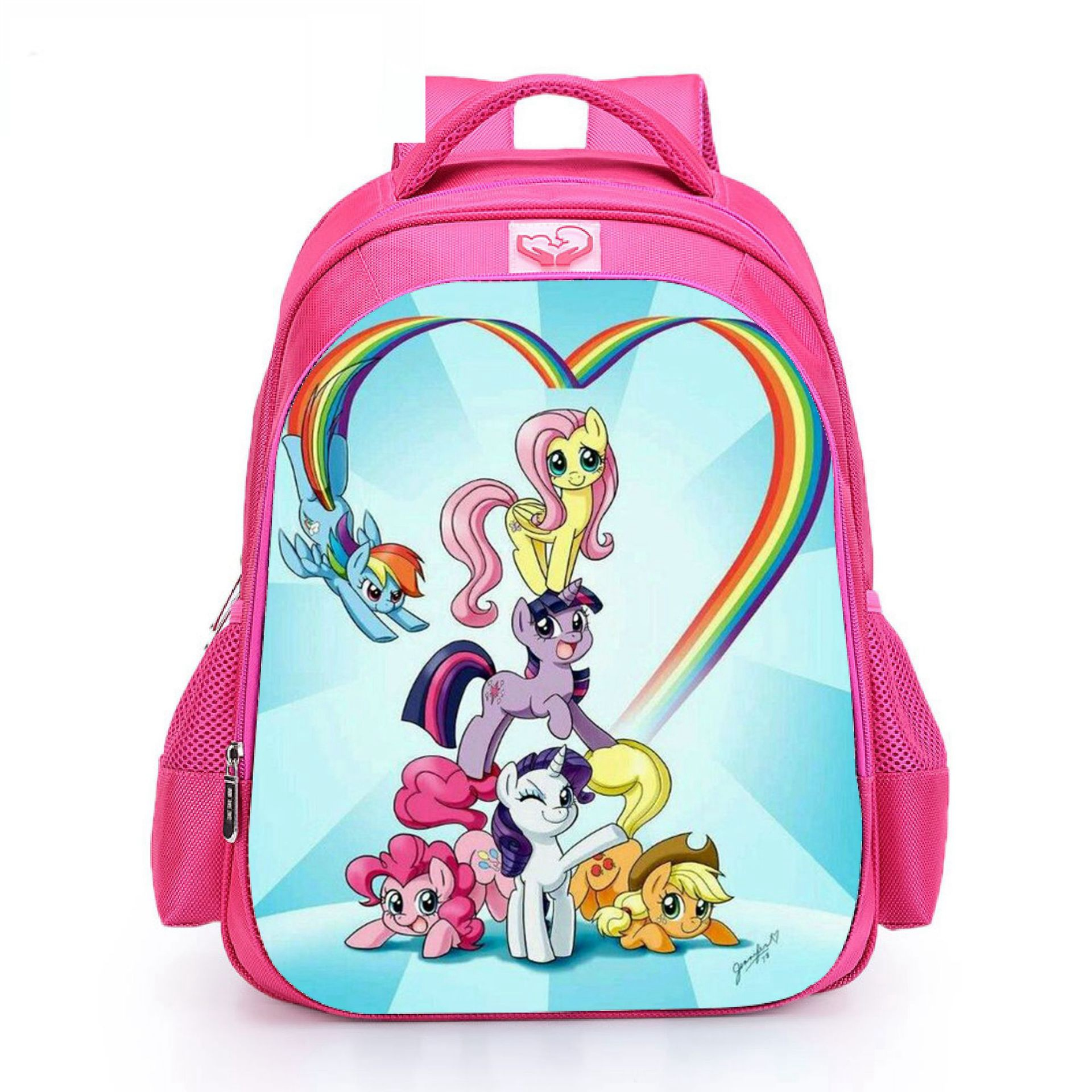 2019 New My Little Pony Backpacks  Unicorn Cute Cartoon Student Schoolbag Baby Girls Shoulder Book Bags Large-capacity