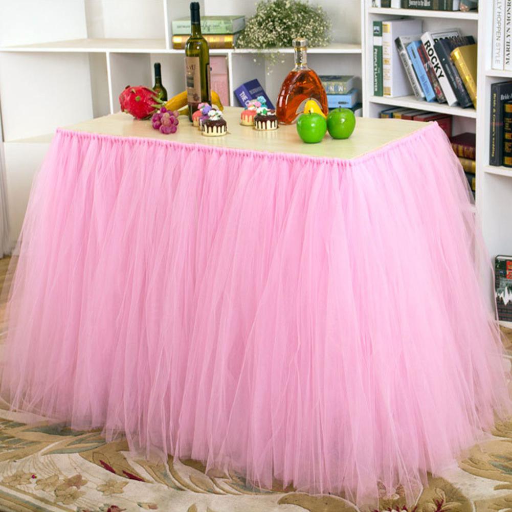 Tulle Table Skirt DIY Tutu Tableware Skirts For Wedding ...