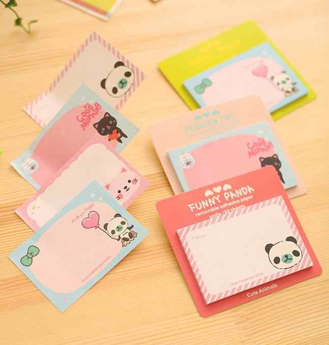 Ellen Brook 1 Buah Kawaii Cute Memo Bantalan Lengket Catatan Kreatif DIY Notepad Agenda Kantor Sekolah Stationery