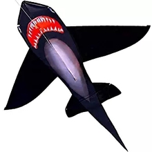 Carton Black Shark Kite Single Line Kite Flying for Children Kids Outdoor Toys Beach Park Playing With Handle And Line 16 colors x vented outdoor playing quad line stunt kite 4 lines beach flying sport kite with 25m line 2pcs handles