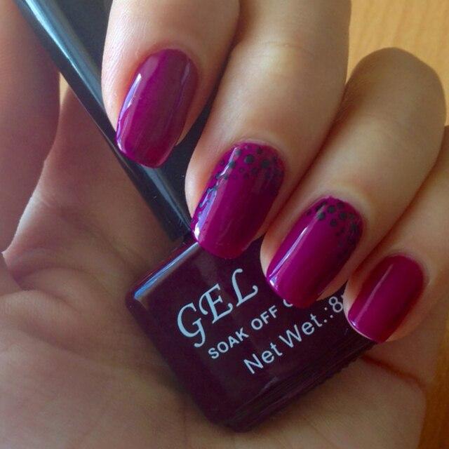 GELLEN Professional UV Gel Polish Pur Color UV Nail Polish Nail Art ...
