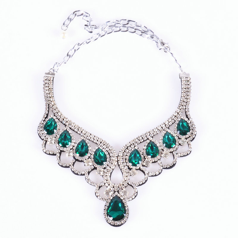10colors Handmade Romantic style collier necklaces & womens water drop Colourful trendy choker collar necklaces fashion jewelry