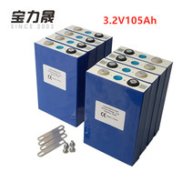 2019 NEW 8PCS 3.2V 100Ah lifepo4 battery CELL 3000 CYCLE 24V105Ah for EV RV battery pack diy solar EU US TAX FREE UPS or FedEx
