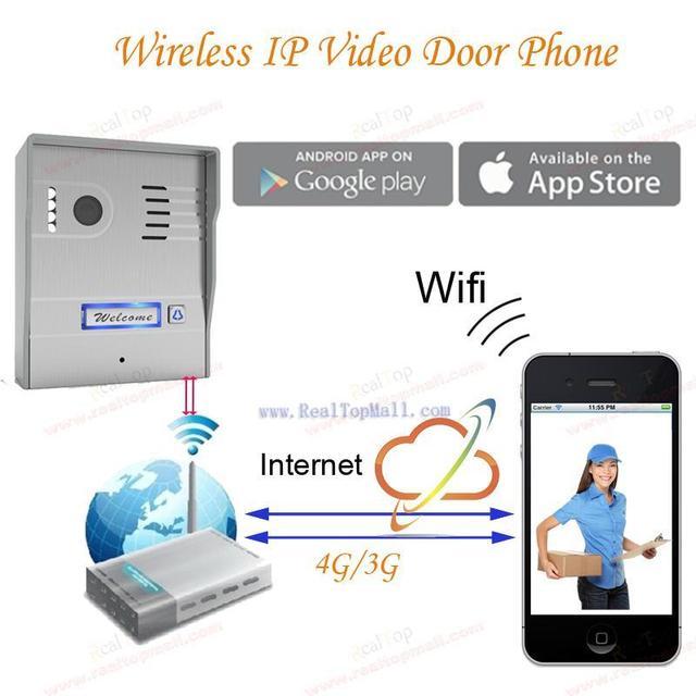 Новый Wi-Fi Global Дверь Камеры Беспроводные Видео-Домофон IP Видео-Телефон Двери Беспроводной Дверной звонок