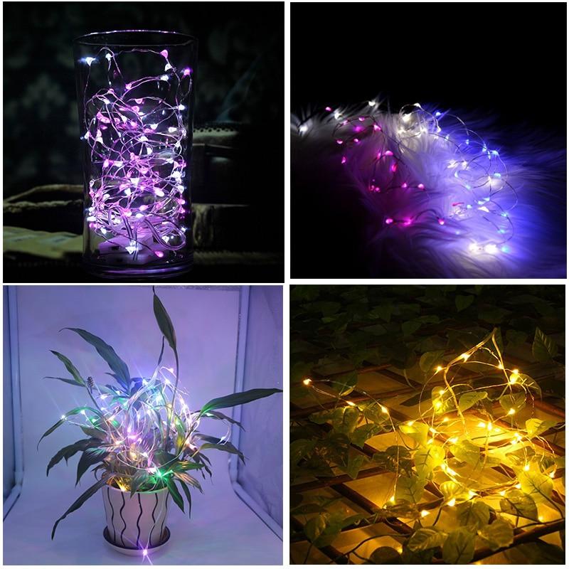 100 pièces 2 M 20 LED s LED étoilé chaîne lumières fée LED s fil de cuivre lumière décorative pour noël guirlande fête de mariage décoration - 5